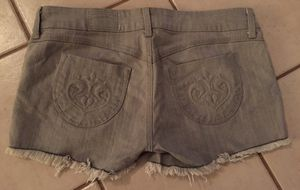 Women's gray denim shorts 31 fringe sexy summer style for Sale in Vancouver, WA