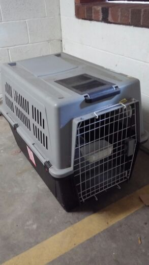 Dog crate for medium/big dogs used once for Sale in Hoboken, NJ