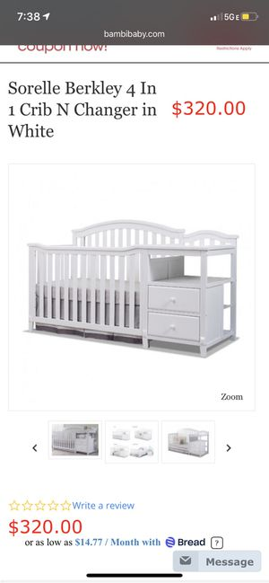 4 in 1 Crib for Sale in Charlotte, NC