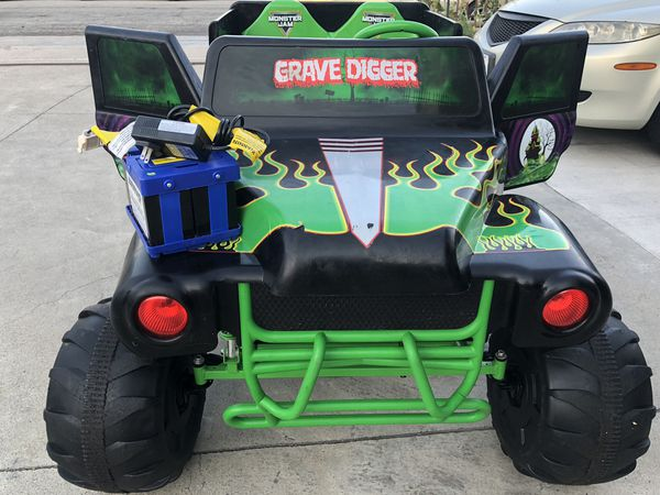 Grave Digger 24volt Electric Kids Ride On Cars Wheels