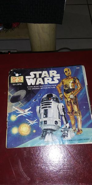 Vintage star wars read along books with record for Sale in Orange, CA