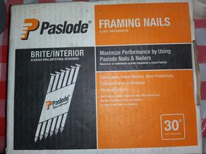 BRAND NEW BOX OF FRAMING NAILS & USED AIR GUN for Sale in San Antonio, FL