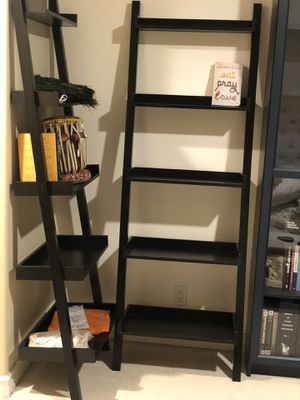 Container Store leaning black bookshelves ❤️🎉 for Sale in Los Angeles, CA