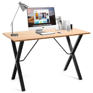Computer Desk Office Writing Desk Study Workstation w/ Bamboo Top & Metal Frame for Sale in El Monte, CA