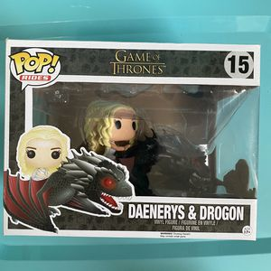 Funko POP Game Of Thrones Daenerys & Drogon #15 Brand New Rides Got Dragon Huge for Sale in Miami, FL