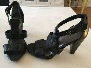 Nine West black leather sandals for Sale in Washington, DC