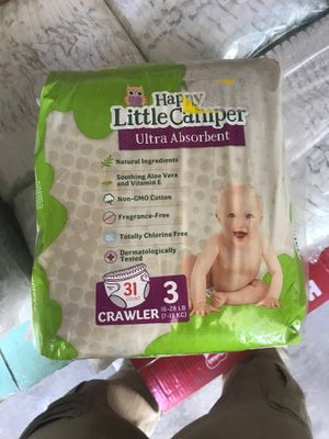 Happy Little Camper Diapers Pañales for Sale in Las Vegas, NV