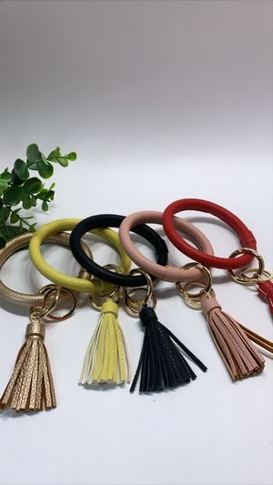Leather Bangle Keychain PU Leather Wrist Key Rings Large Hoop Bracelet, EACH $7.99 for Sale in Irvine, CA