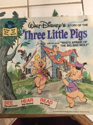 Book and Record Walt Disney's story of the Three Little Pigs for Sale in Seattle, WA