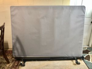 Full Size Box Spring with Metal Frame Rails for Sale in Brandon, FL