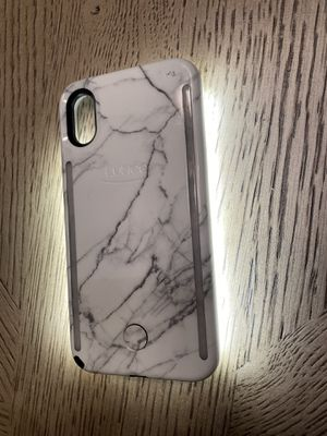 iPhone X Lumee brand cell phone case white marble for Sale in Port St. Lucie, FL