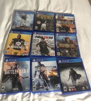 PS4 games for Sale in Wildomar, CA