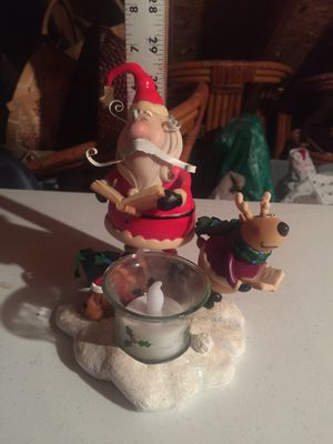 Singing Santa Christmas Candle Holder for Sale in Indian Trail, NC