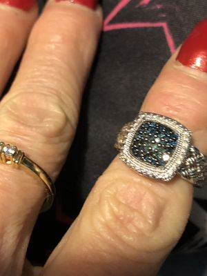 Blue diamond and 925 silver ring for Sale in Dennis, MS