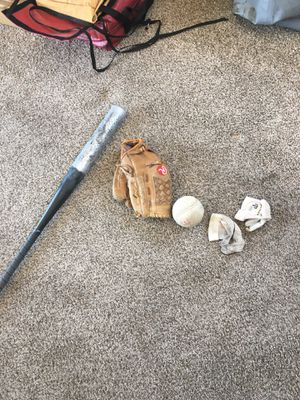 Softball bat glove and ball and gloves for Sale in Phoenix, AZ