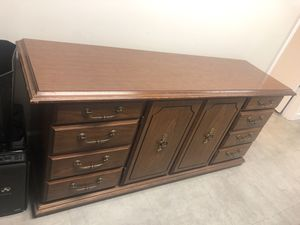 Antique credenza solid wood. for Sale in Miami, FL