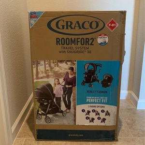 Graco RoomFor2 Travel System with Snugride30 (Stroller/Car Seat) for Sale in Deltona, FL