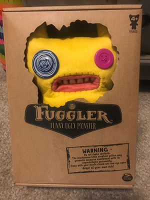 Fuggler new in box unique toy stuffed animal button eyes for Sale in Sheridan, CO