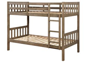 Twin over Twin Bunk Bed, Grey Color for Sale in Fountain Valley, CA