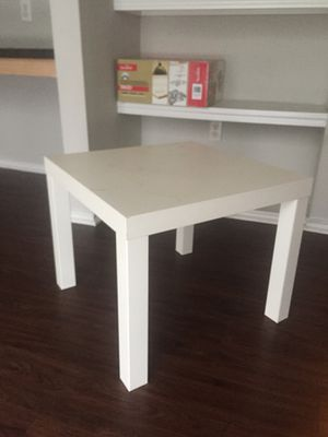Small ikea white end side table for Sale in Austin, TX