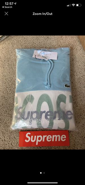 Supreme X Lacoste Logo Panel Hoodie for Sale in Emmaus, PA
