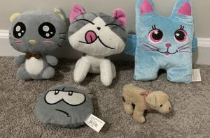 SET OF 5 STUFFED KIDS TODDLER ANIMALS: KITTENS, DOG & FACE EMOJI for Sale in Chapel Hill, NC