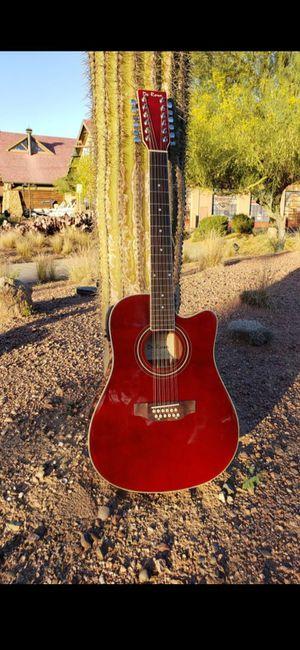 Guitarra 12 Cuerdas Pa Requintiar Nueva Electrónica Acustica con Bolsa y Accesorios Combo New 12 String Guitar Black. Para Corridos for Sale in Phillips Ranch, CA