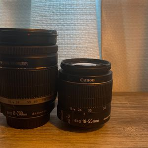 EF-S 18-200mm f/3.5-5.6 IS And Canon EF-S 18-55mm f/3.5-5.6 IS II SLR Lens for Sale in Seattle, WA