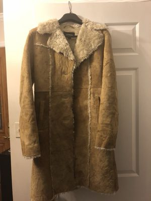 Express Leather and faux fur coat for Sale in Odenton, MD