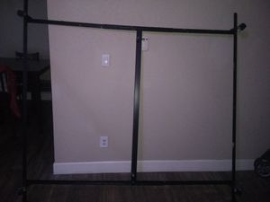 Queen Metal Bed Frame With Rolling Wheels (has wheel locks) and All The Hardware (Screws and Bolts) Brand New condition ONLY $25 Pick up only for Sale in Phoenix, AZ