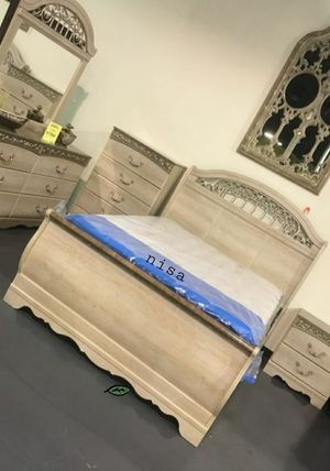 🍾🍾 Best Offer ‼ Catalina Antique White Sleigh Bedroom Set 106 for Sale in Jessup, MD