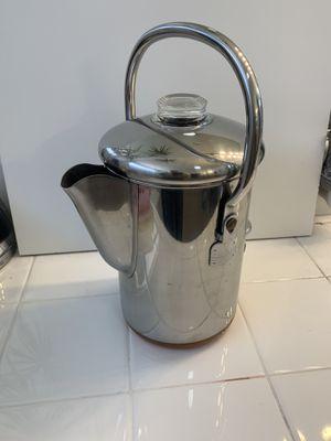 VINTAGE Revere Ware 14 Cup Percolator Coffee Maker Pot Copper Bottom for Sale in Clovis, CA