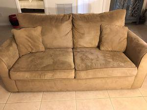 Beige microfiber sofa bed for Sale in Delray Beach, FL