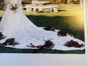 Wedding dress and head piece size 6. 1996 featured in Bride magazine for Sale in Philadelphia, PA