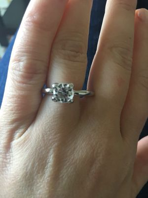 Cz silver colored engagement ring for Sale in New York, NY