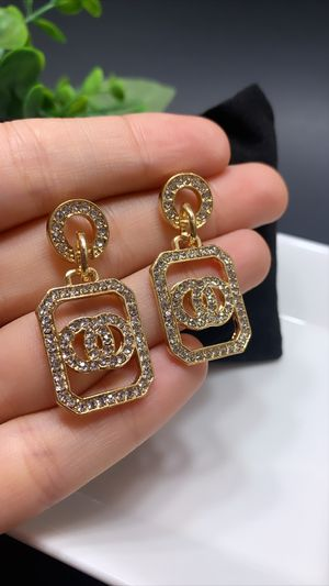 Vintage Geometric Dangle Drop Earrings, Gold Color for Sale in Tustin, CA