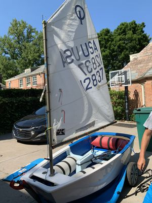 Opti 1 person racing sail boat for Sale in Grosse Pointe Park, MI