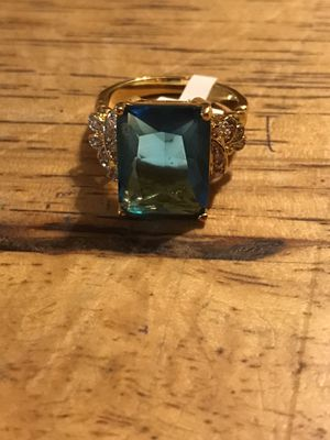 BRAND NEW LADIES RING WITH 10.72CTW BLUE AND CLEAR CZS. SIZE 10 for Sale in Seaford, DE