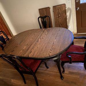 Solid Oak Dining Table Set for Sale in Nashville, TN