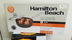 "New Hamilton Beach 2 in 1 8"" Frying Pan With Egg Poacher for Sale in Walkerton, IN"