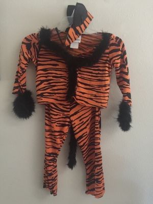 Child Tiger Cat Costume Fits Size 2-4 yo Halloween for Sale in Port St. Lucie, FL