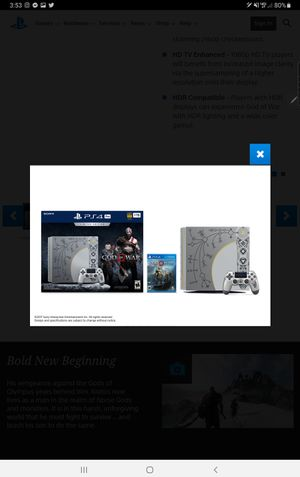 Limited edition GoW 4k 3D 1TB PS4 6GAMES 2 CONTROLLERS COOLING STAND AND CHARGER for Sale in Boulder, CO