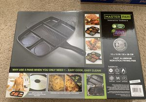 Master Pan Non-stick Divided Grill/Fry/Oven Skillet for Sale in Renton, WA