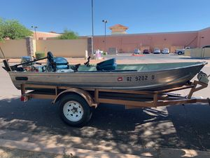 Fishing boat with Big Tex trailer for Sale in Phoenix, AZ