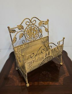 Wrought Iron Magazine Rack/  Firewood Rack for Sale in Irvine, CA