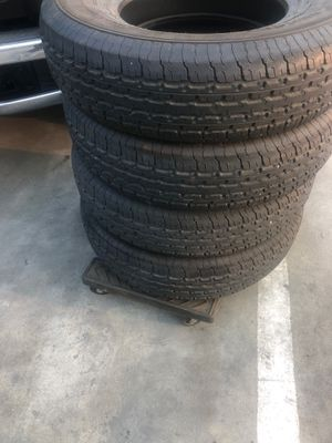 Used set of trailer tires like 90% good 235-80-16 for Sale in Montclair, CA