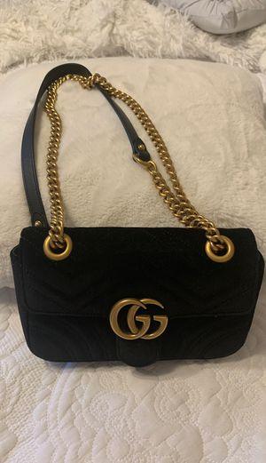 Gucci velvet Marmont bag for Sale in Houston, TX