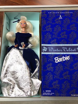 Barbie Winter Velvet Special Edition First In A Series An Avon Exclusive for Sale in La Habra, CA