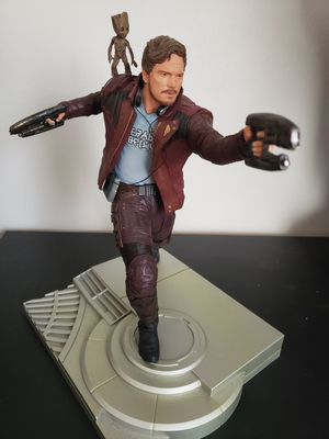 Collectible - Marvel - Star Lord - Groot - MCU - Gaurdians of the Galaxy - Statue - Vinyl for Sale in Lawndale, CA