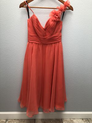 Coral floral mid-length dress- bridesmaid, wedding guest, prom! for Sale in Woodinville, WA